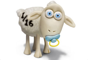 Counting sheep 1/16, with a pacifier