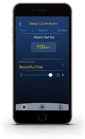 Alarm on sleep gps app