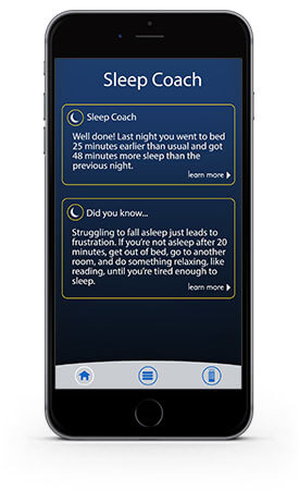Sleep coach on sleep gps app
