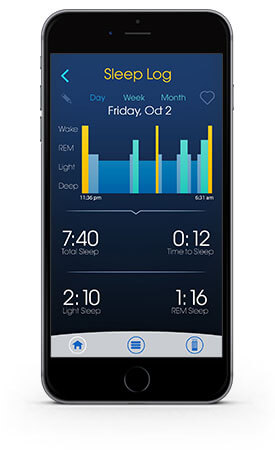 Sleep log data on sleep gps app
