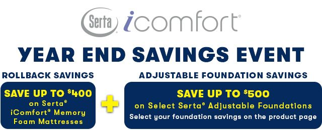 Serta iComfort Save up to 900