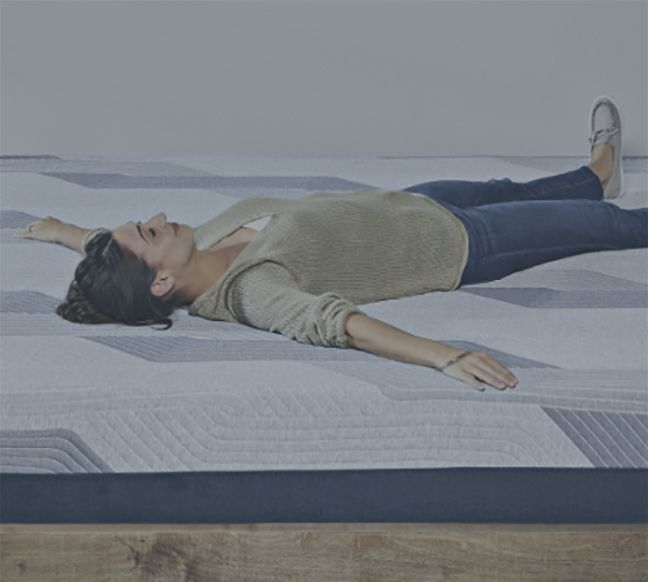 woman sitting on icomfort foam mattress