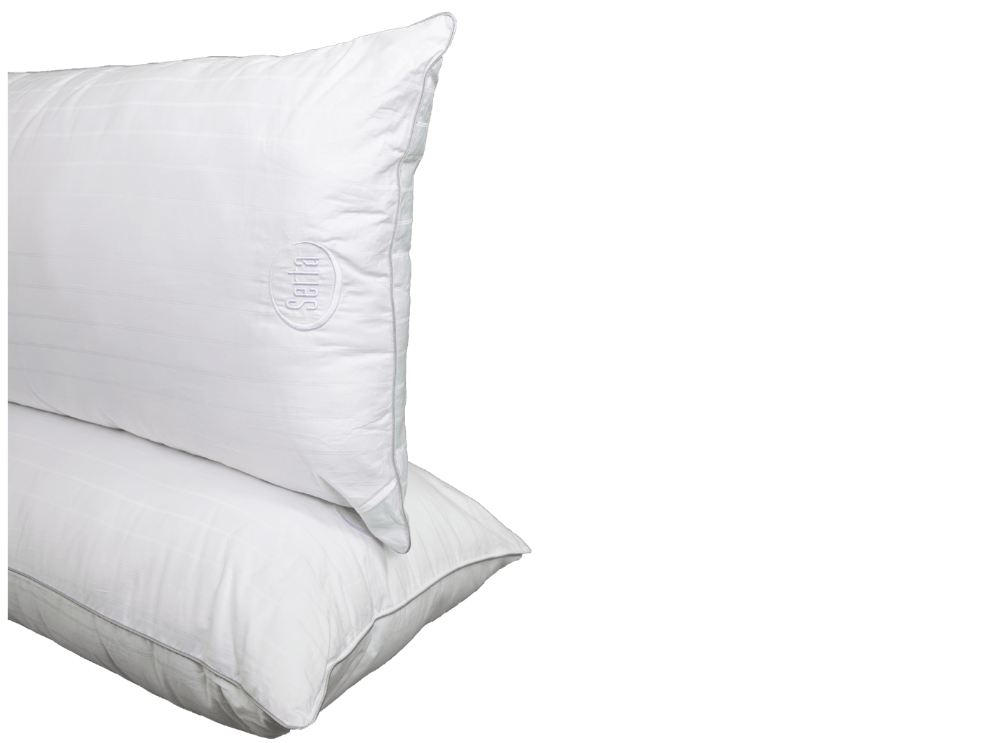 FREE SHIPPING 2 Serta Perfect Sleeper Queen Size Bed Pillows Soft Cotton Cover