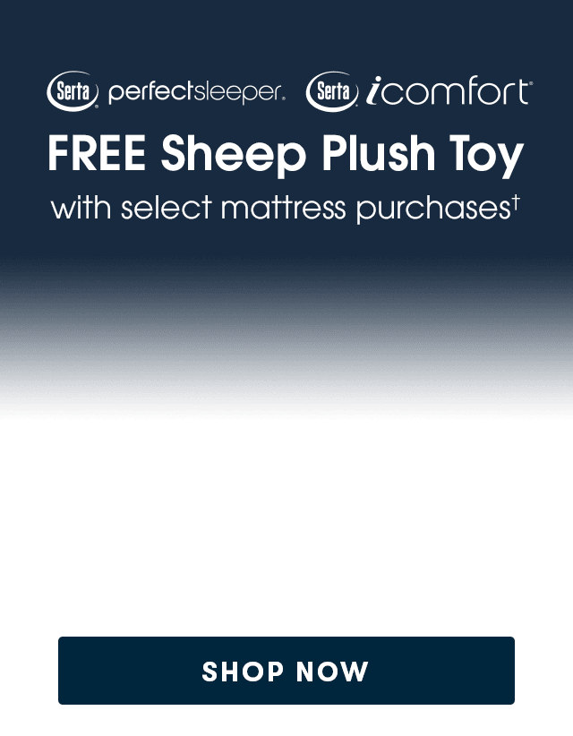 Free Sheep Plush Toy with mattress purchase