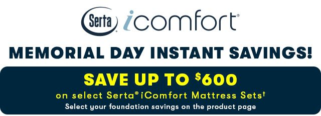 Serta iComfort Memorial Day Savings