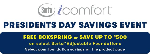 Serta iComfort Presidents Day Savings