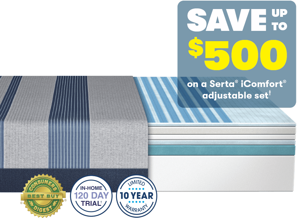 Serta iComfort Presidents Day Save up to 500