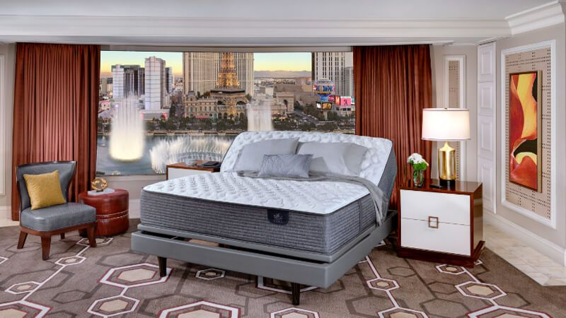 Bellagio mattress on an adjustable foundation