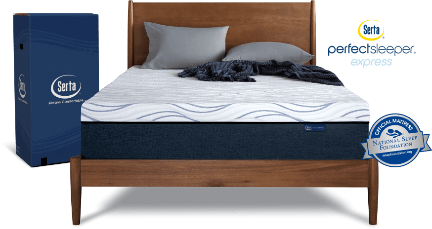 Perfect Sleeper Express mattress on a bed frame
